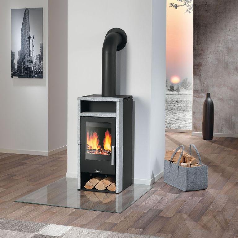 justus kaminofen mando stahl schwarz speckstein 4 0 kw. Black Bedroom Furniture Sets. Home Design Ideas