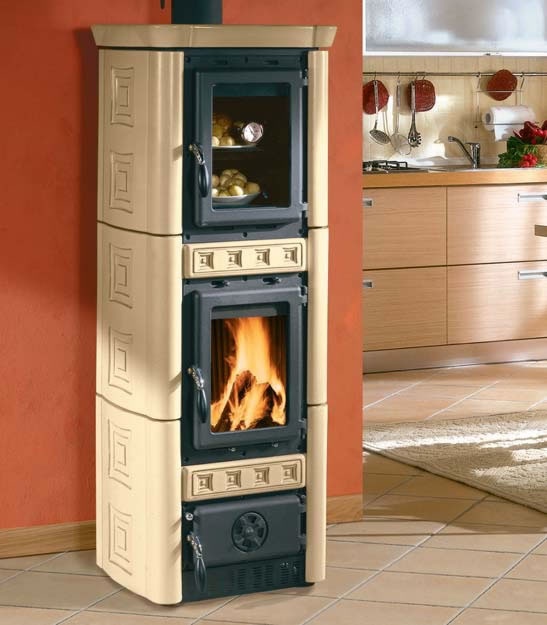 kleining gaia forno 6 kw in kachel in pergamena kaminofen. Black Bedroom Furniture Sets. Home Design Ideas