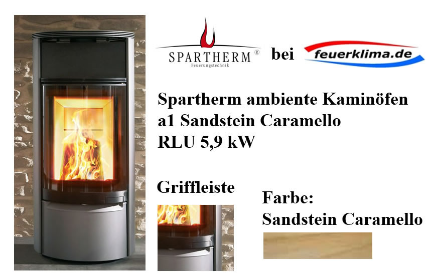 spartherm ambiente kaminofen a1 sandstein sahara rlu 5 9 kw inkl anschlussgutschein kaminofen. Black Bedroom Furniture Sets. Home Design Ideas