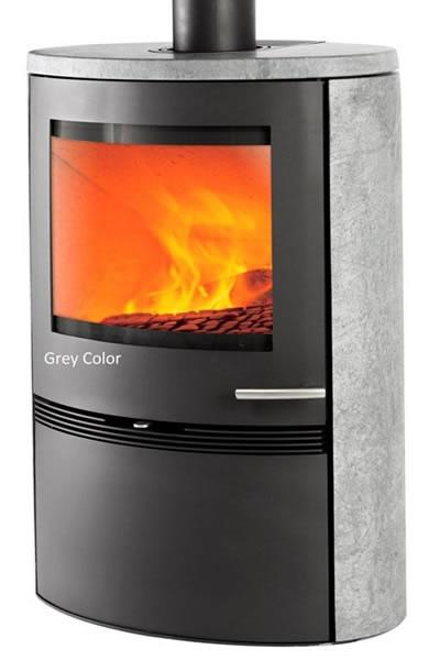 TermaTech TT22HS Runde Seiten Dunkelgrau 7,5 KW 5 Jahre Hersteller Garantie*  Kaminofen Schwedenofen Ofen   Ofen U0026 Kälteanlagenbau Kurtz
