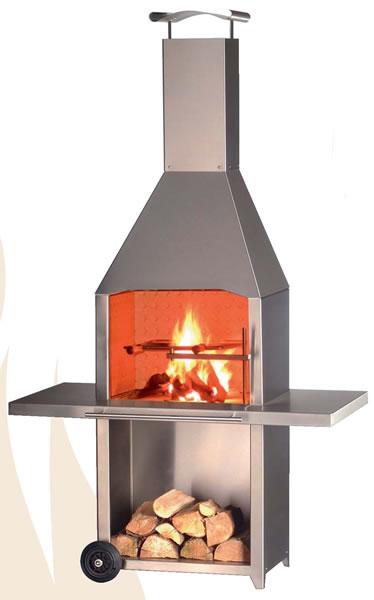 ofen k lteanlagenbau kurtz kleining transportabler grill und gartenkamin aus edelstahl. Black Bedroom Furniture Sets. Home Design Ideas