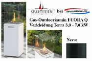 Gas-Outdoorkamin FUORA Q nero