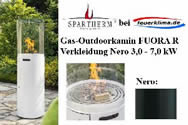 Gas-Outdoorkamin FUORA R nero